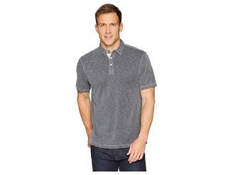 True Grit Lux Textured Tencel Short Sleeve Knit Polo with Contrast Stitch Men's Short Sleeve Pullover