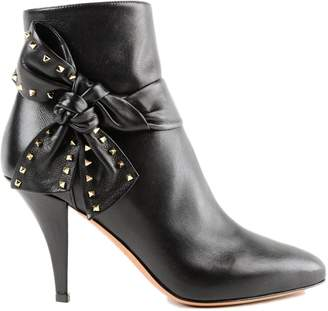 Valentino Studded Bow Ankle Boots