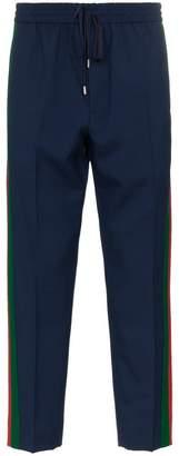 Gucci web wool mohair blend sweat pants