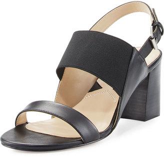 Adrienne Vittadini Panya Slingback City Sandal, Black $79 thestylecure.com