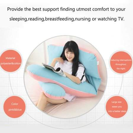 Hanyulore Comfortable Maternity Mat Full Body Support Pillow U Shape Pregnancy Pillow Multifunctional Waist Support Cushion