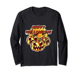 Pumpkin and Jack-o'-Lantern Halloween Long-Sleeve T-Shirt