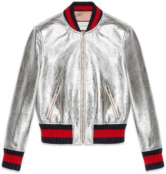 Crackle leather bomber jacket $3,500 thestylecure.com