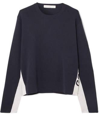 Golden Goose Metallic Jacquard Knit-trimmed Wool-blend Sweater