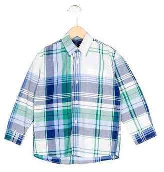 Papo d'Anjo Boys' Plaid Collared Shirt