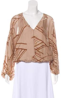 Twelfth Street By Cynthia Vincent Silk Long Sleeve Top