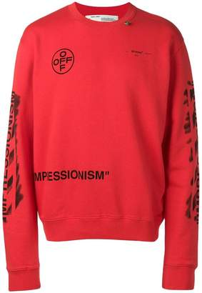 Off-White diagonal stencil sweatshirt