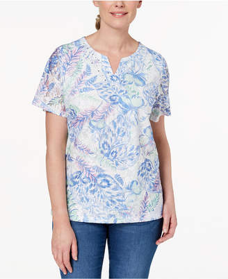 Alfred Dunner Daydreamer Embellished Lace Top