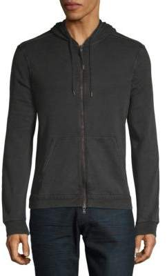 John Varvatos Cotton Hooded Zip Jacket