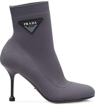Prada logo 90 sock booties