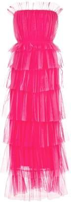 Carolina Herrera ruffled strapless gown