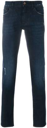 Dolce & Gabbana slight distressed slim fit jeans