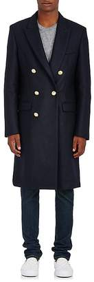 Palm Angels Men's Wool-Blend Melton Double-Breasted Coat