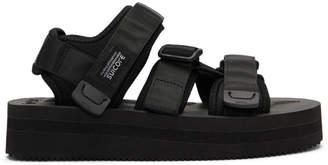 Suicoke Black Kisee-VPO Platform Sandals