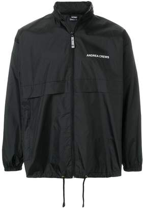 Andrea Crews back-print windbreaker