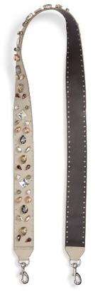 Rebecca Minkoff Jewel Guitar Bag Strap - Beige $145 thestylecure.com