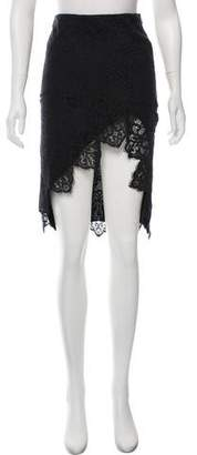 For Love & Lemons Lace Knee-Length Skirt