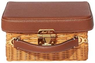 Mark Cross Wicker Grace Box Bag - Camel