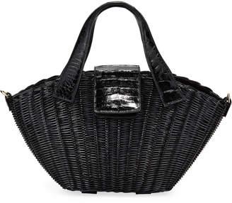 Nancy Gonzalez Small Wicker Tote Bag