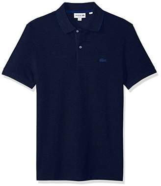 Lacoste Men's Short Sleeve Solid Heavy Wintery Caviar Pique Polo
