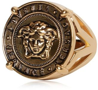 Medusa Coin Vintage Gold Ring $325 thestylecure.com
