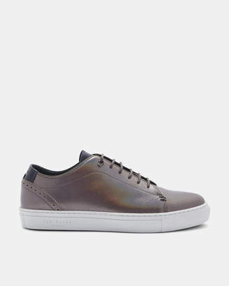 Ted Baker AILESS Brogue detail metallic leather trainers