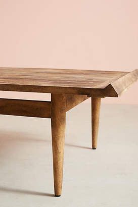 Anthropologie Burnished Wood Coffee Table