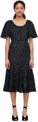 Rebecca Taylor Sarah Embroidered Silk Dress