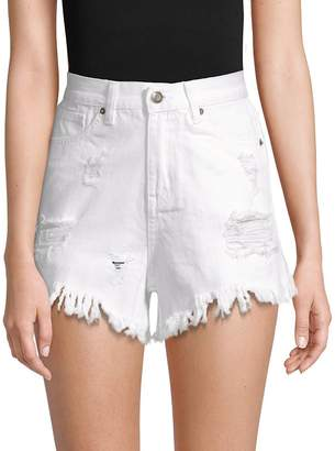 Moon River Women's Distressed Shorts