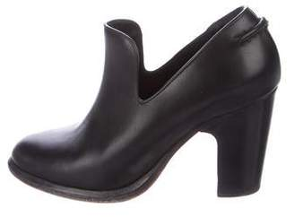 Rag & Bone Leather Round-Toe Booties