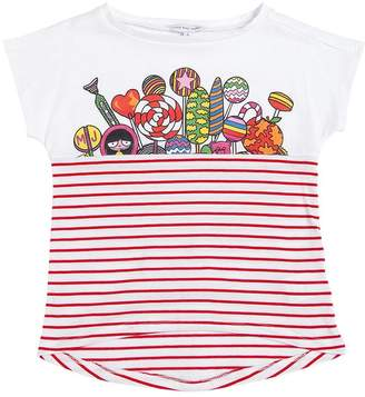 Little Marc Jacobs Candy Striped Jersey T-Shirt