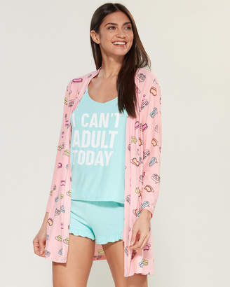 5 More Minutes 3-Piece Can't Adult Tank & Shorts PJ Set