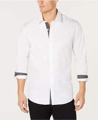 Ryan Seacrest Distinction Men's Contrast-Trim Shirt, Created for Macy's
