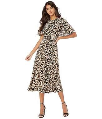 Escada Leopard Printed Silk Flowy Dress
