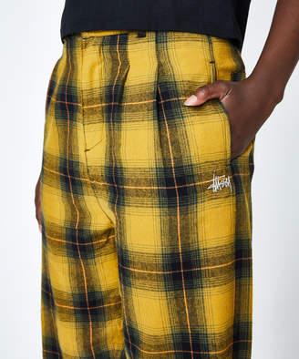 Stussy Kingston Check Pant Yellow