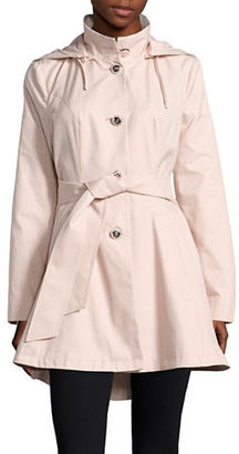 Betsey Johnson Flared Trench Coat $200 thestylecure.com
