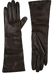 Barneys New York Women's Leather Long Gloves-Black