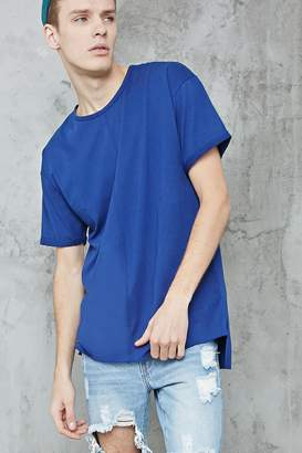 Forever 21 High-Low Raw-Cut Tee