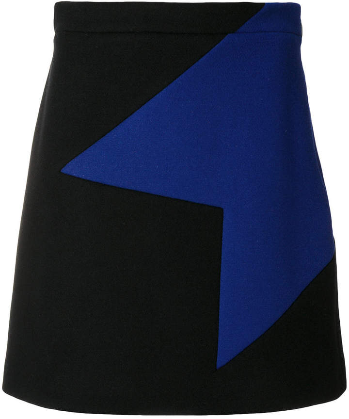 MSGM geometric motif mini skirt