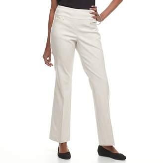 Dana Buchman Women's Midrise Bootcut Millennium Pull-On Dress Pants