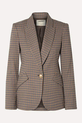 L'Agence Chamberlain Houndstooth Tweed Blazer - Brown