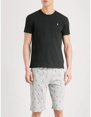 Polo Ralph Lauren Printed relaxed-fit cotton-jersey shorts