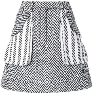 Oscar de la Renta A-line herringbone skirt