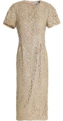 Rachel Gilbert Metallic Beaded Lace Dress