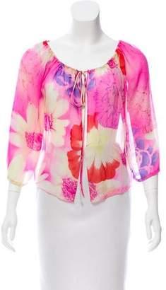 Ungaro Floral Short Sleeve Top
