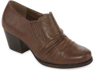 Yuu Womens Booties Block Heel