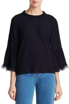 See by Chloe Gauzy Lace Bell-Sleeve Blouse