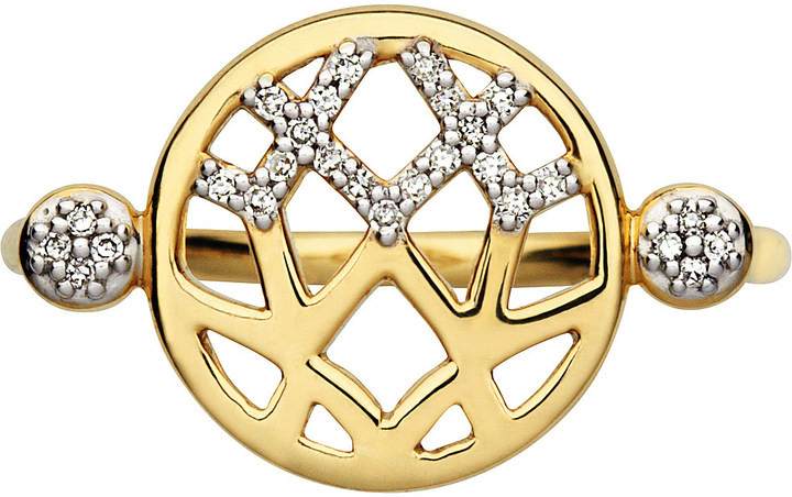 Links Of LondonLINKS OF LONDON Timeless Gold 18ct yellow-gold and diamond ring