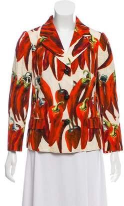Dolce & Gabbana Chili Pepper Jacquard Blazer