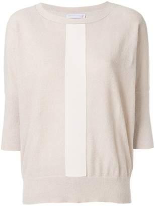Fabiana Filippi striped cropped sleeve sweater